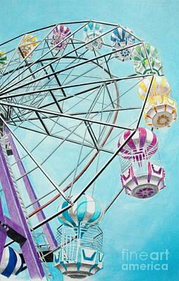 Ferris Wheel View Print by Glenda Zuckerman