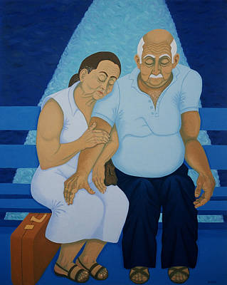 Greece Painting - Ferry Ride by Diana Kordas