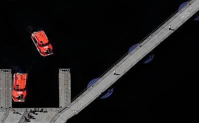 Ferry To Wonderland Print by Cristian Kirshbom