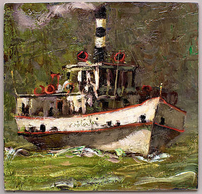 Lake Como Painting - Ferryboat by Giancarlo Vitali