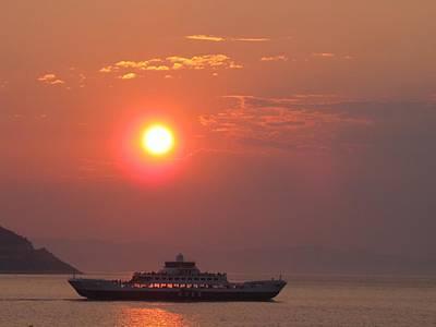 Ferryboat Sunset Print by Aleks Findikian