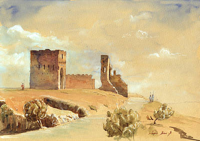 Morocco Painting - Fes Morocco Orientalist Painting by Juan  Bosco