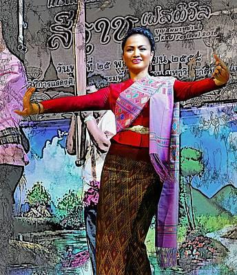 Traditional Folk Dance Digital Art - Festive Folk Dance by Ian Gledhill
