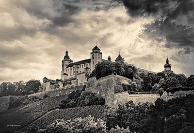 Black_white Photograph - Festung Marienberg Wuerzburg Germany by Gerlinde Keating - Galleria GK Keating Associates Inc
