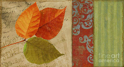 Feuilles II Print by Mindy Sommers