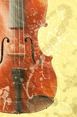 Violin Digital Art - Fiddle by Michal Boubin