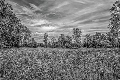 Field Gaeddeholm  Bw Print by Leif Sohlman