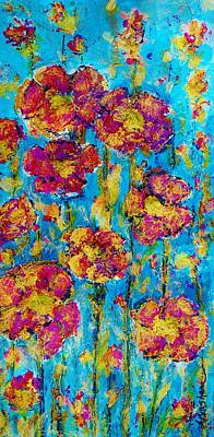 Red White And Blue Mixed Media - Field Of Dreams by Laura  Grisham