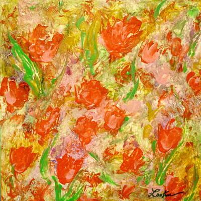 Hot Wax Painting - Field Of Flowers by Cheryl Lynn Looker
