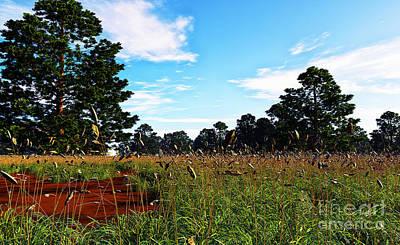 Field Of Grass Print by Napo Bonaparte