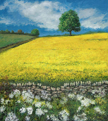 Floral Painting - Field Of Rapeseed by Sandra Delaney