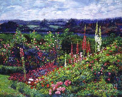 Fields Of Floral Splendor Print by David Lloyd Glover