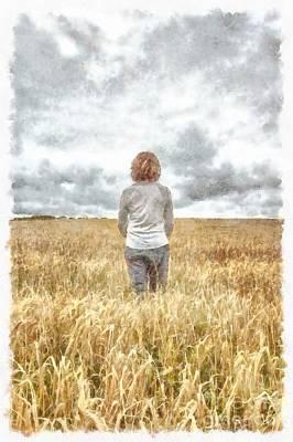 Farmer Digital Art - Fields Of Gold by Edward Fielding