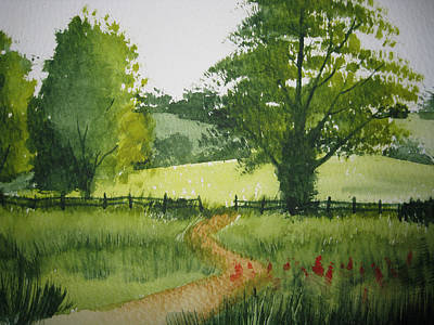 Fields Of Green Print by Shirley Braithwaite Hunt