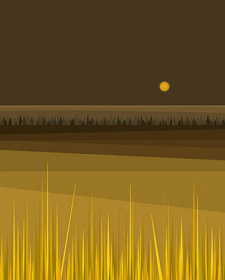 Fields Print by Val Arie