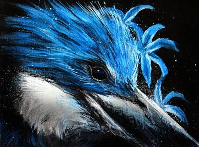 Fierce Blue Original by Danielle Trudeau