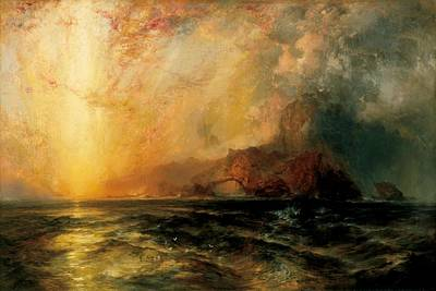 Fiercely The Red Sun  Original by Thomas Moran