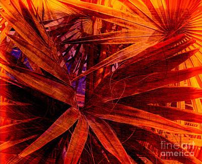 Fiery Palm Print by Susanne Van Hulst