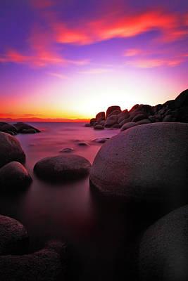 Sand Harbor Photograph - Fiery Sky by Rick Berk