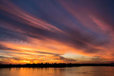 Southern Indiana Photograph - Fiery Sunset by Andrea Kappler
