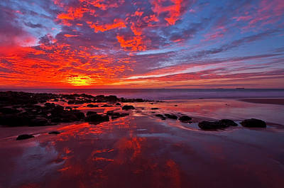Australia Digital Art - Fiery Sunset by Heather Thorning