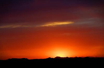 Digital Art - Fiery Sunset Mountains by Dan Stone