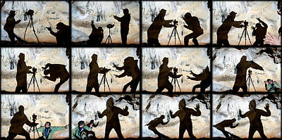 Humour Photograph - Fight For A Tripod by Kikroune (christian R.)