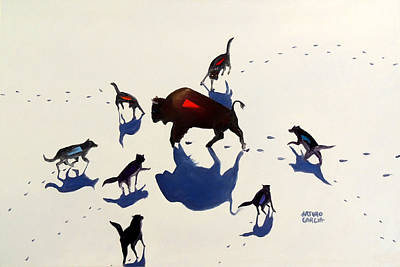 Fight For Life Original by Arturo Garcia