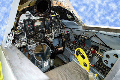 Warbird Mixed Media - Fighter Jet F106 Cockpit Trainer by Thomas Woolworth