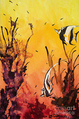 Sealife Art Painting - Fijian Friends by Tanya L Haynes - Printscapes