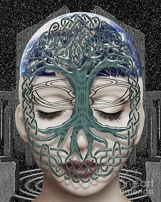 Celtic Tree Of Life Digital Art - Fildais Celtic Goddess by Keith Dillon