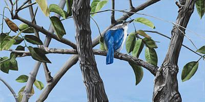 Kingfisher Painting - Filipino Kingfisher by Wendy Ballentyne