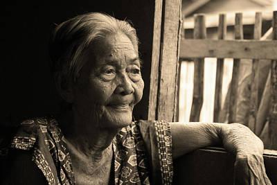 Filipino Lola - Image 14 Sepia Print by James BO  Insogna