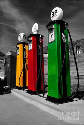 Petrol Green Digital Art - Fill Her Up by Rob Hawkins