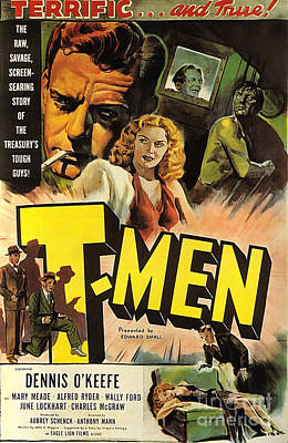Painting - Film Noir Poster Design 2 T Men  by R Muirhead Art