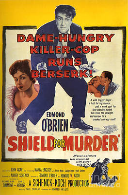 Painting - Film Noir Poster Shield For Murder by R Muirhead Art