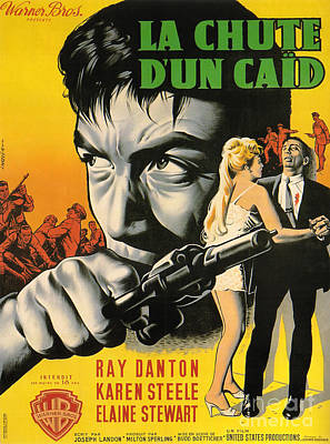 Painting - Film Noir Poster  The Rise And Fall Of Legs Diamond by R Muirhead Art