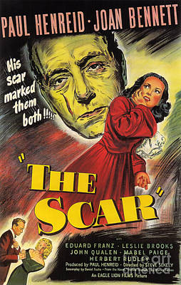 Painting - Film Noir Poster  The Scar by R Muirhead Art