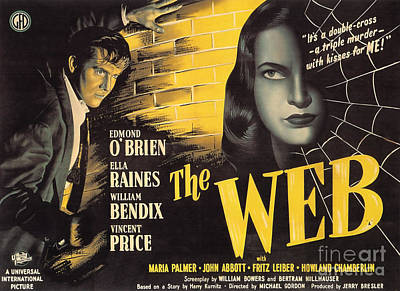 Painting - Film Noir Poster   The Web by R Muirhead Art