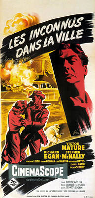 Painting - Film Noir Poster   Violent Saturday by R Muirhead Art