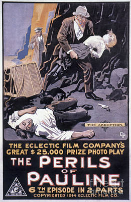 Film: The Perils Of Pauline Print by Granger
