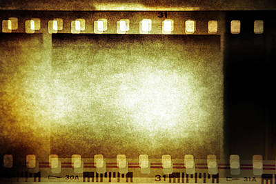 Movies Photograph - Filmstrip by Les Cunliffe