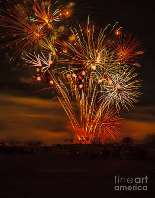 Firecracker Photograph - Final Display by Robert Bales