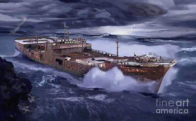 Digital Art - Final Harbor by Joseph Juvenal