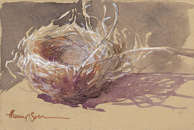 Finch Mixed Media - Finch Nest by Tracie Thompson