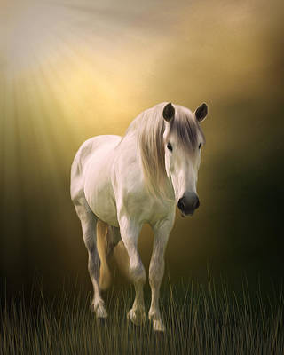 Silver Background Painting - Find Your Way Home - Horse Art by Jordan Blackstone