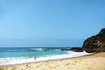 Beach Digital Art - Finding Seashells by Lonnie Christopher