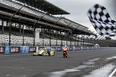 Marco Andretti Photograph - Finish Line by Ara Ashjian