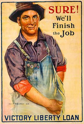 Finish The Job Print by David Letts