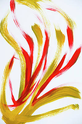 Fire Abstract Painting Print by Christina Rollo